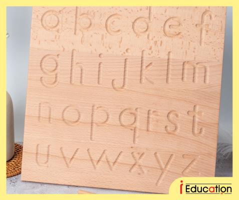 K3251 Montessori Alphabet Tracing Board Uppercase &  Lowercase