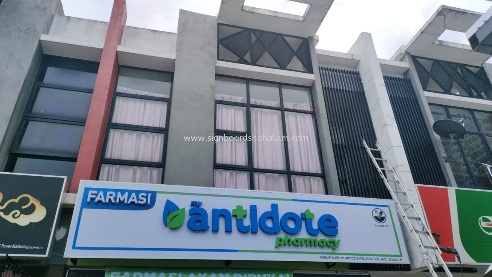 My Antidote Wellness Sdn Bhd KL -3D LED Box Up Signboard - Frontlit