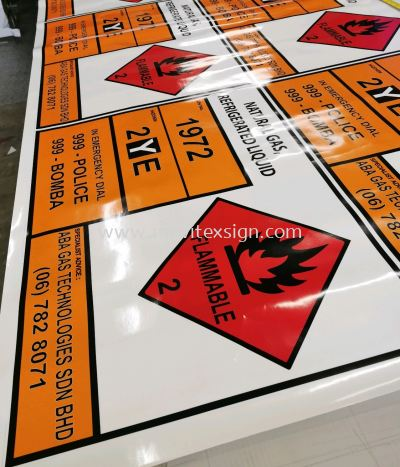 Oil and gas industry sign