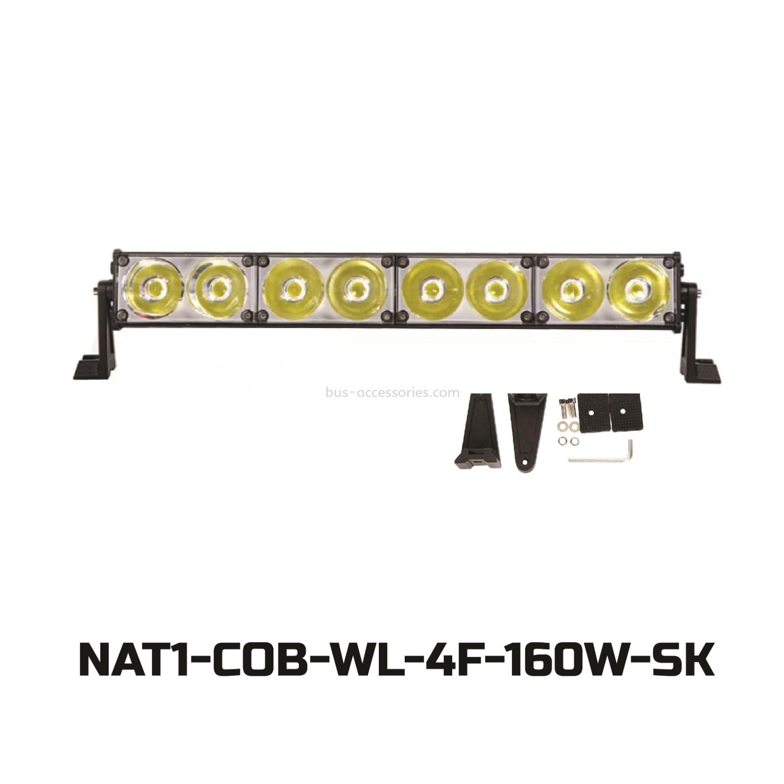 LED BAR/STROBE LIGHT 4F FOR TRUCKS AND 4X4 -White(DC12v-24v)