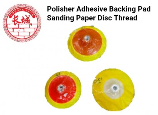 (4'') (5; 1/2'') (6'') Polisher Adhesive Backing Pad Sanding Paper Disc Thread