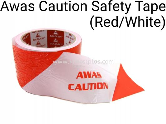Awas Caution Safety Tape (Red/White)