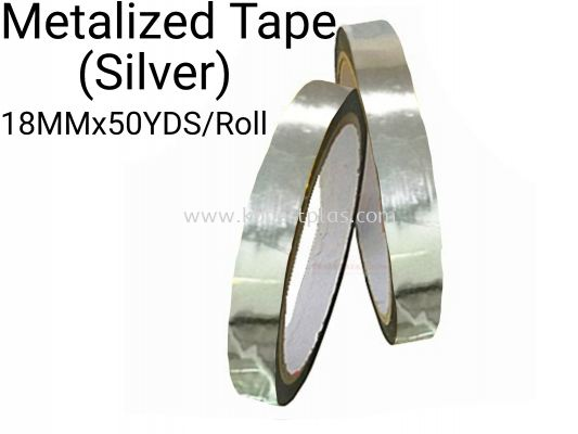 Metalized Tape (Silver) 18MMx50YDS