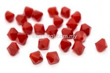 SW 5301 XILION BEAD, 04MM, 396 Dark Red Coral, 30pcs/pack