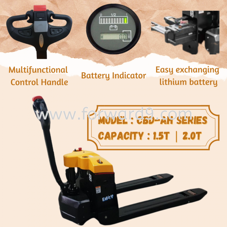 Eazy 1.5-2.0ton Heavy Duty Power Electric Pallet Truck with Lithium Battery  Power Pallet Truck Johor Bahru  Material Handling Equipment Johor Bahru  Others