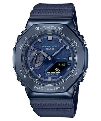 G-SHOCK GM-2100N-2A BLUE ION PLATED CASE ANALOG DIGITAL WATCH