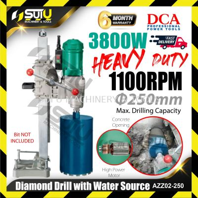 DCA AZZ02-250 Diamond Drill with Water Source 3800W 1100rpm