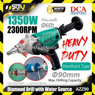 DCA AZZ90 Diamond Drill with Water Source 1350W 2300rpm