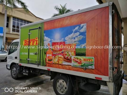 ayam wira truck lorry sticker signage signboard at klang kuala lumpur shah alam puchong kepong subang