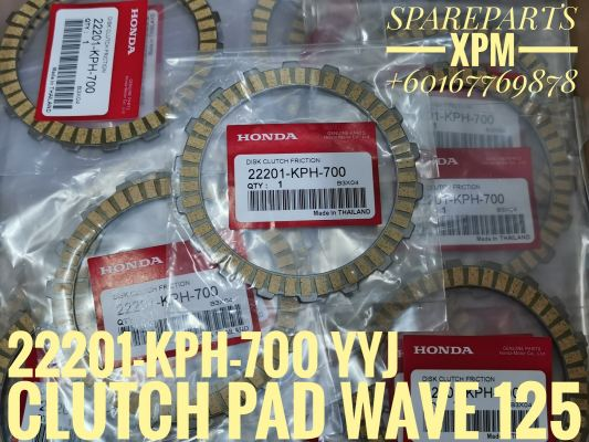 CLUTCH PAD/DISK, CLUTCH FRICTION (1PC) WAVE 125 22201-KPH-700 NEE