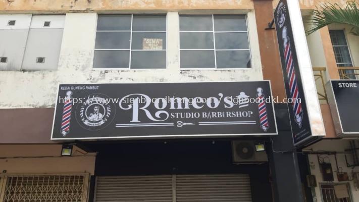 romeos barbe shop lightbox signage signboard at klang kuala lumpur shah alam puchong kepong