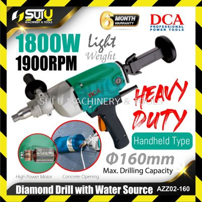 DCA AZZ02-160 Diamond Drill with Water Source 1800W 1900rpm
