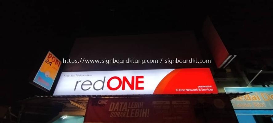 red one lightbox signage signboard at klang kuala lumpur shah alam puchong kepong subang