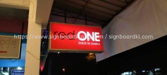 red one lightbox double side signage signboard at klang kuala lumpur shah alam puchong kepong subang
