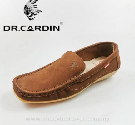 DR.CARDIN Full Leather Ladies Shoe-DL-633-NUDE DARK BROWN Colour
