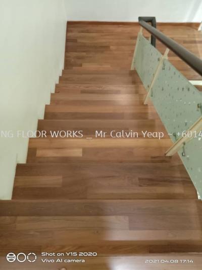 Parquer Flooring - Staircase (Teak Wood)