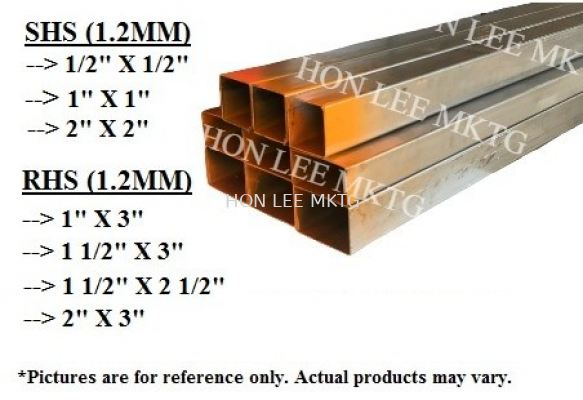 """[1.2MM x 1/2"""" X 1/2""""] SQUARE HOLLOW COLD ROLLED / MILD STEEL SECTION (SHS)"""