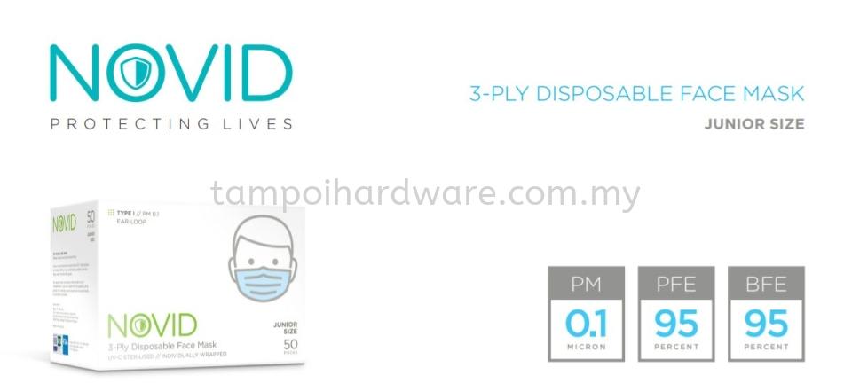 NOVID 3-Ply Disposable Face Mask (Junior Size) Respirators Personal Protective Equipments