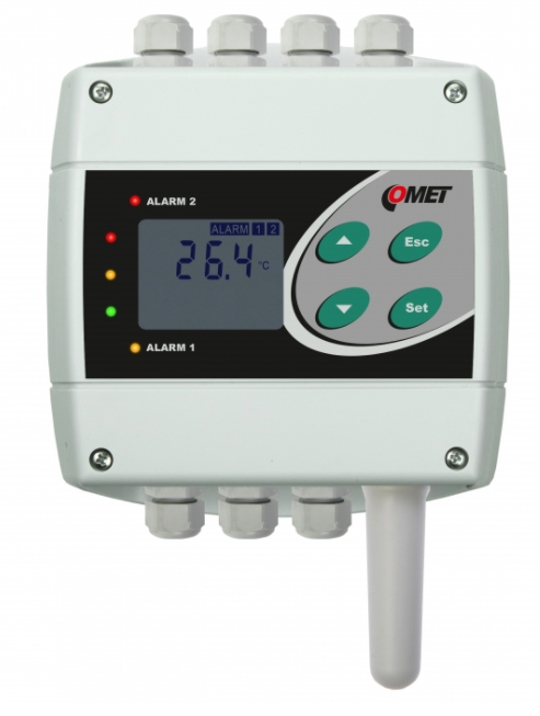 COMET H0430 Temperature transmitter and regulator with RS485 output