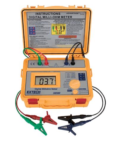 EXTECH 380580 : Battery Powered Milliohm Meter
