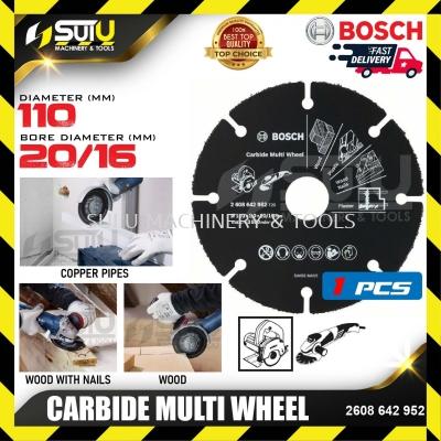 BOSCH 2608642952 Carbide Multi Wheel (110mm)
