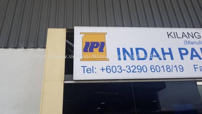 indah paper kilang factory gi metal signage signboard at klang kuala lumpur shah alam puchong kepong suang jaya kota kemuning damansara