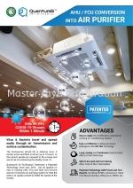 AHU/FCU/Aircon to air purifier