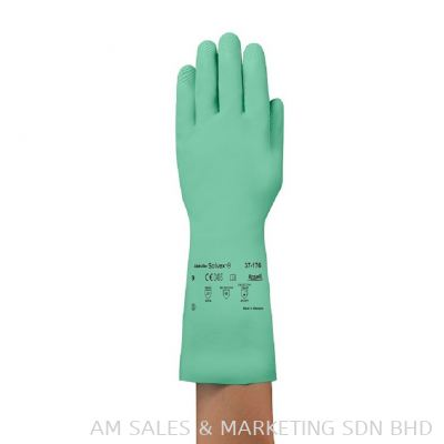 Ansell AlphaTec® 37-176 Nitrile Straight Cuff SIze M ( Pack of 1Pair) (OHGLVAN1300384)