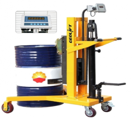 GEOLIFT Counter Weight Drum Porter with Weighing Scale - DV450WS (Germany Hydraulic Pump System)