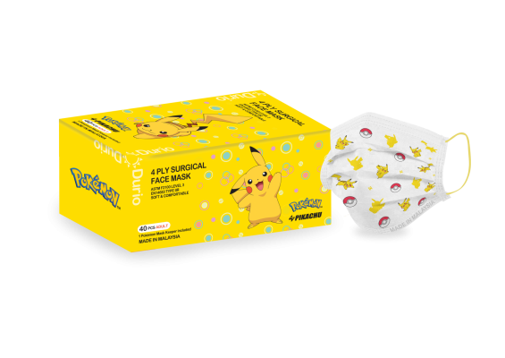 Durio 546A Pok��mon 4 Ply Surgical Face Mask - Pikachu Style01
