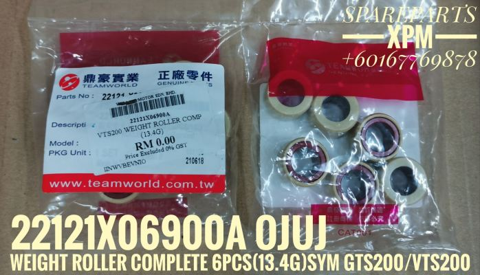 WEIGHT ROLLER COMPLETE /PULLEY ROLLER STD (13.4G) 6PCS IN SET 22121X06900A AIIE