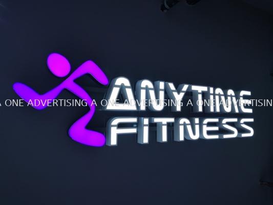 'Anytime Fitness' Led Frontlit Box Up