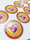 'Hua Jie Fried Onion' Label Sticker 'Hua Jie Crispy Fried Onion' Sticker Printing