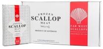 Far West Scallop size 10/20, 20/30, 20/40, 40/60, Pieces 2kg Commercial Pack 扇贝 (生食用 / 熟食用)