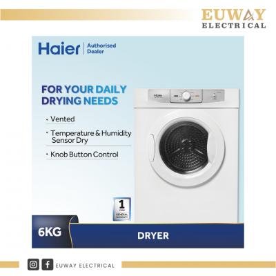 HAIER VENTED DRYER 6KG HDY-D60