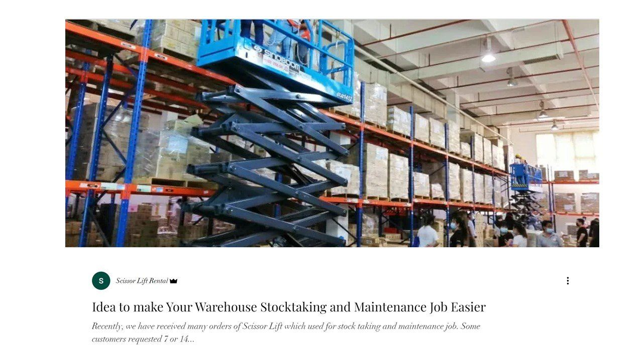 Idea to make Your Warehouse Stocktaking and Maintenance Job Easier