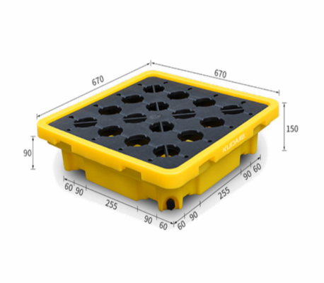 Poly Spill Pallet (Double Drum) - PSP01