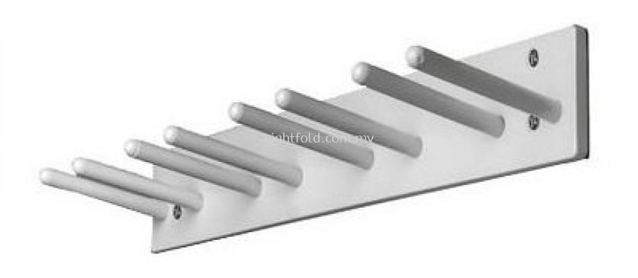 Wall Mounted Apron Rack - Short Pegs