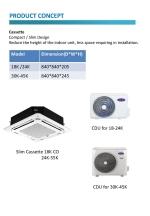 CARRIER LIGHT COMMERCIAL AIR CONDITIONER SINGLE SPLIT (CEILING CASSETTE) R32 REFRIGERANT