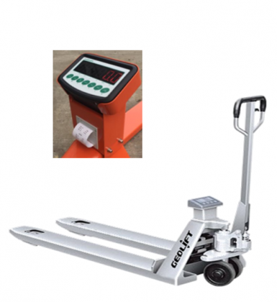 2.5 ton GEOLIFT Stainless Steel Weight Scale Pallet Truck - AC25SS-WSP Series (Germany Hydraulic Pump System