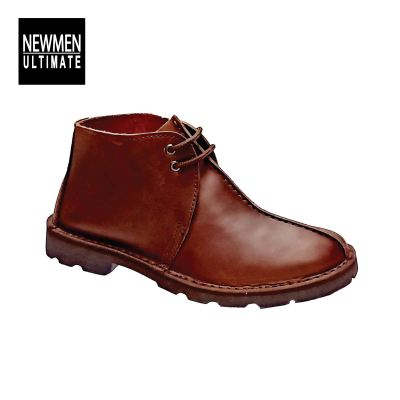 MEN LEATHER SHOE (NM 05228-WHISKY)