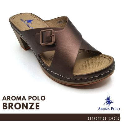 AROMA POLO Ladies Stitched and Comfort Heeled Sandal  (AP064)