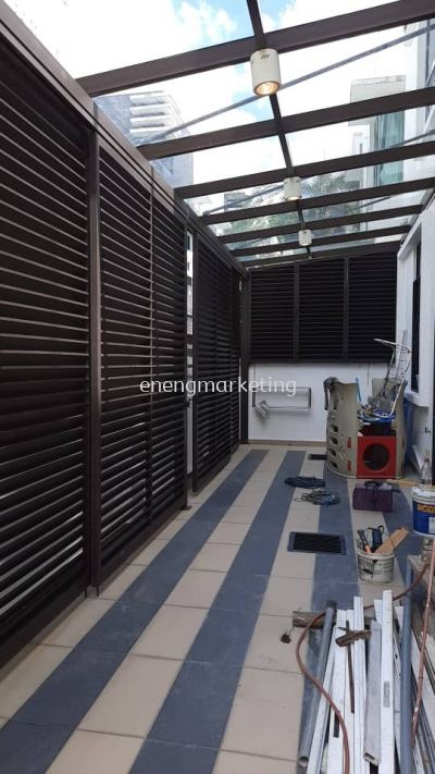 MSG 05- Mild Steel Backyard Louvers Grille