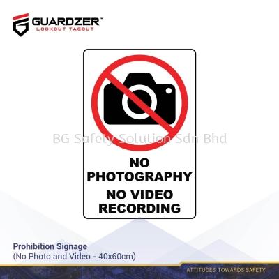 Guardzer Prohibition Safety Signage (No Photo and Video)
