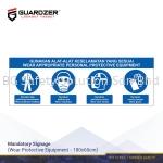 Guardzer Mandatory Safety Signage (Wear safety equipment)