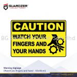 Guardzer Warning Safety Signage (Watch your finger and hand)