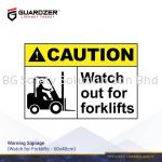 Guardzer Warning Safety Signage (Caution watch for forklifts)