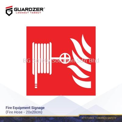 Guardzer Fire Equipment Safety Signage (Fire Extinguisher Hose)