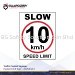 Guardzer Traffic Control Safety Signage (Speed Limit)