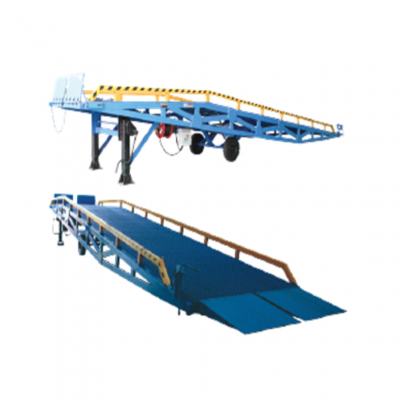 10 ton GEOLIFT Electric / Battery Operated Heavy Duty Moveable Hydraulic  Dock Ramp - EMDR100-AC/DC